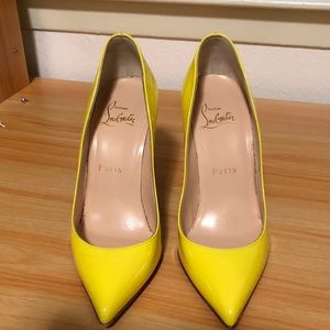 Authentic Yellow Christian Louboutin Pigalle pumps